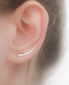 Ear Climber Long Sterling Silver