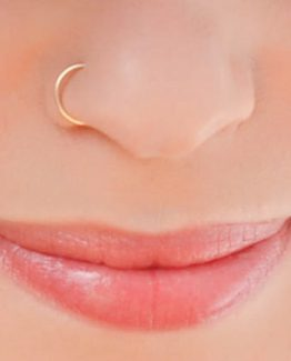 Nose Ring, Gold Nose Hoop
