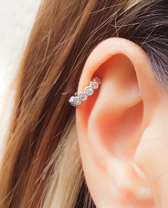 CZ Helix Earring