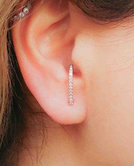 CZ Crystal Suspender Earrings