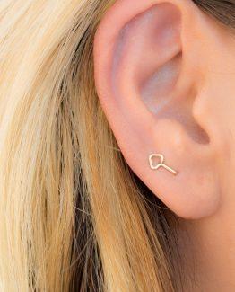 Double Lobe Arrow Earring