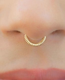 Wrapped Fake Septum Ring