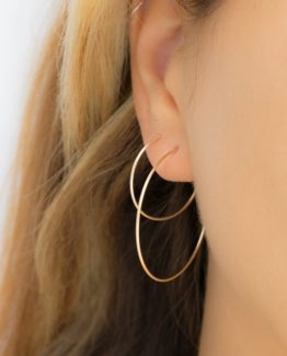 Classic Thin Hoop Earrings
