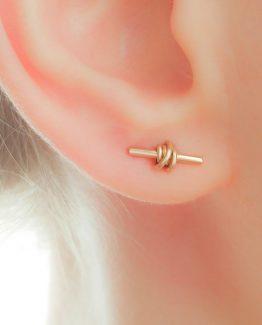 Tiny Tribal Bar Earrings