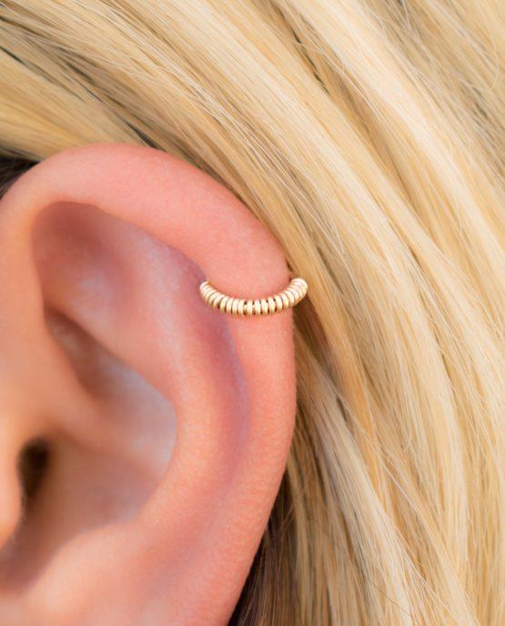 Wrapped Helix Earring
