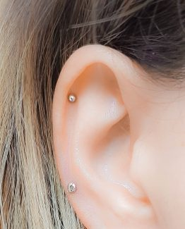 tiny stud earring