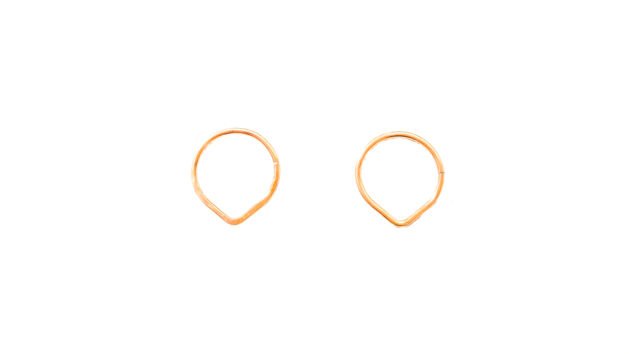 Triangle Septum Ring Gold Triangle Piercing Moonli Designs