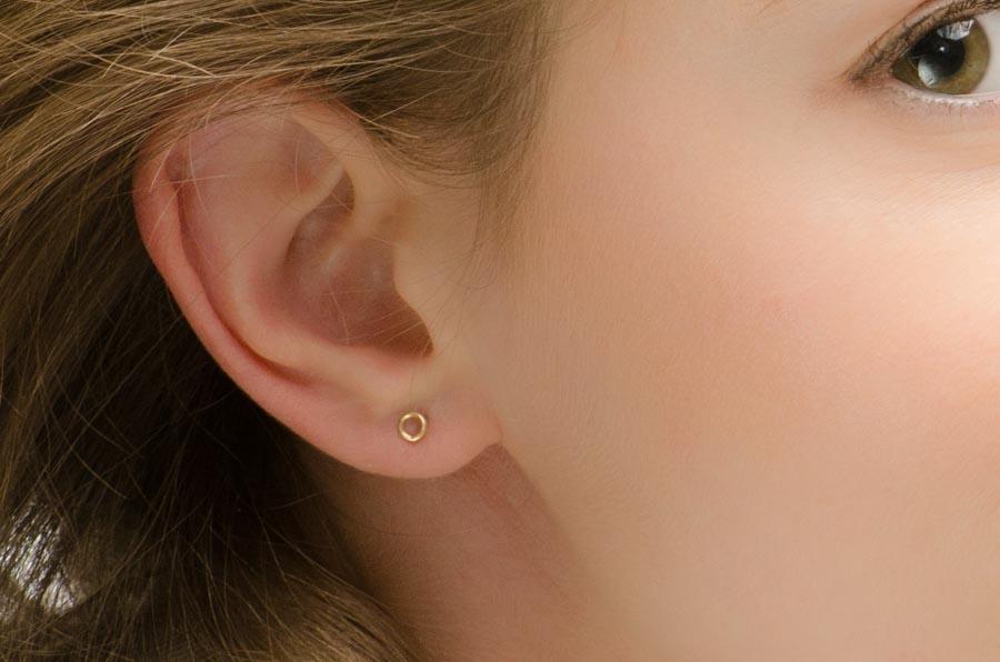 Minimalist Earrings Tiny Studs Moonli Designs