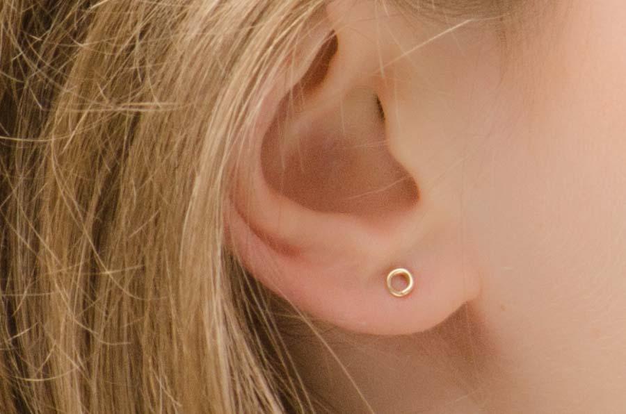 minimalist stud earrings