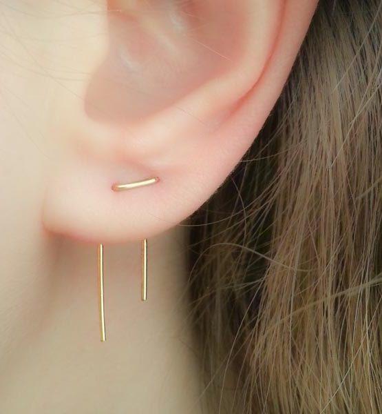 Double Piercing Earrings