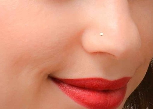 Tiny Nose Stud Gold Or Silver L Shaped