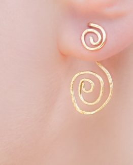 Gold Ear Jacket Earrings