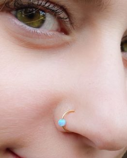 Blue Opal Nose Ring