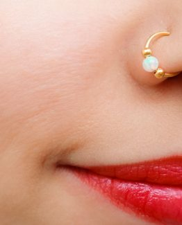 Opal Nose Ring Hoop