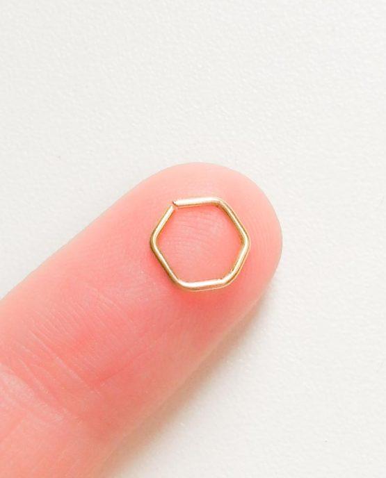 Helix Piercing Hexagon