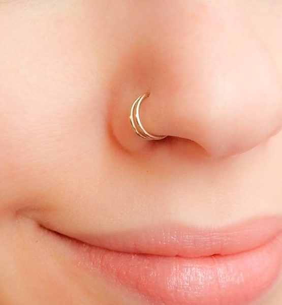Double Nose Cuff Fake Piercing