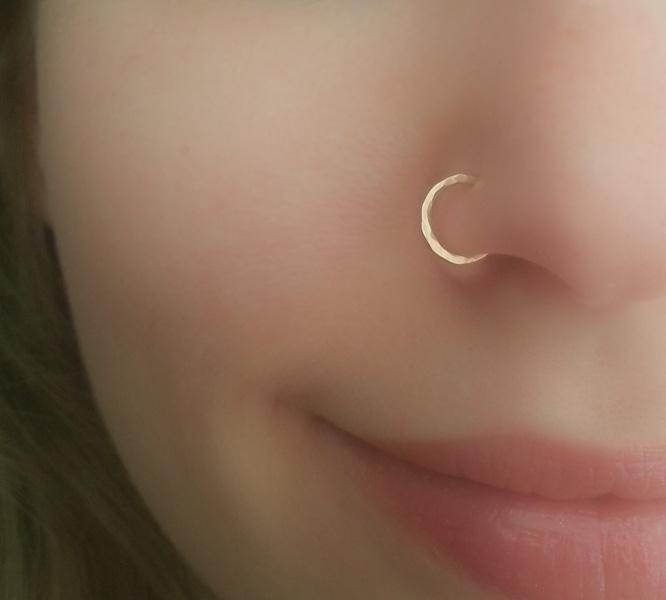 Gold Tiny Nose Ring Moonli Designs