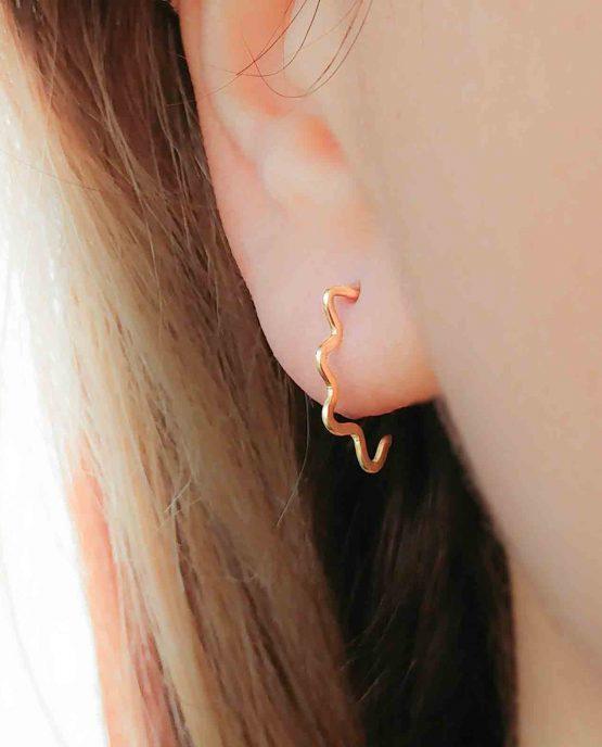 Open Hoop Spike Earrings