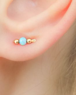 Tiny Opal Stud Ear Climbers