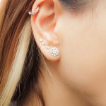 Zircon stud earrings