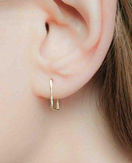 Open Hoop Square Earrings