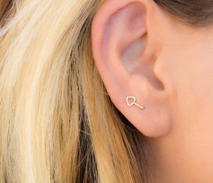 Double Lobe Arrow Earring