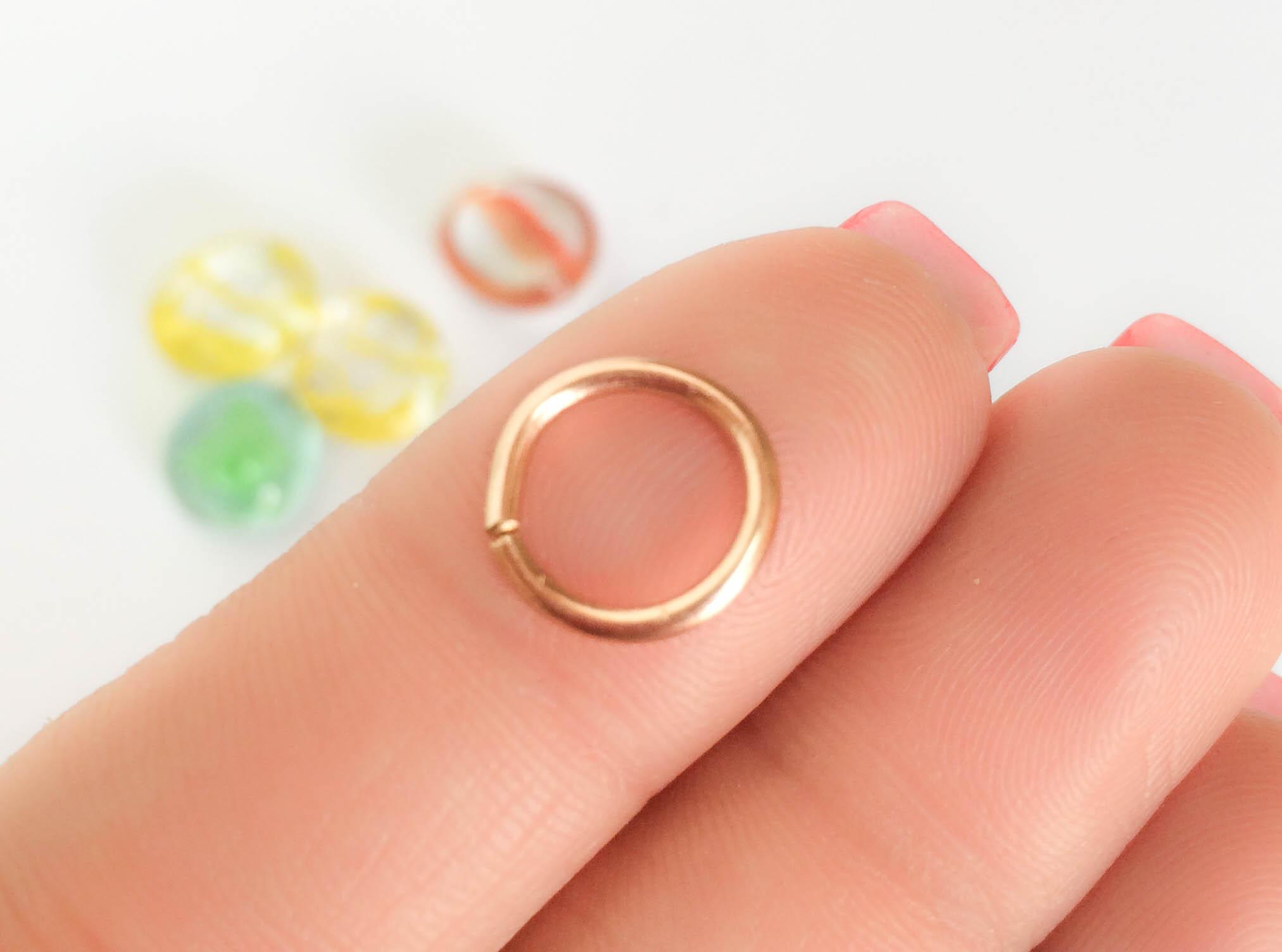 14 Gauge Septum Ring Piercing