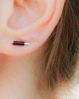 Tiny Czech Glass Bar Earrings