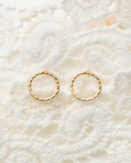 Elegant Circle Stud Earrings