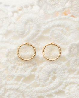 Elegant Circle Stud Earrings