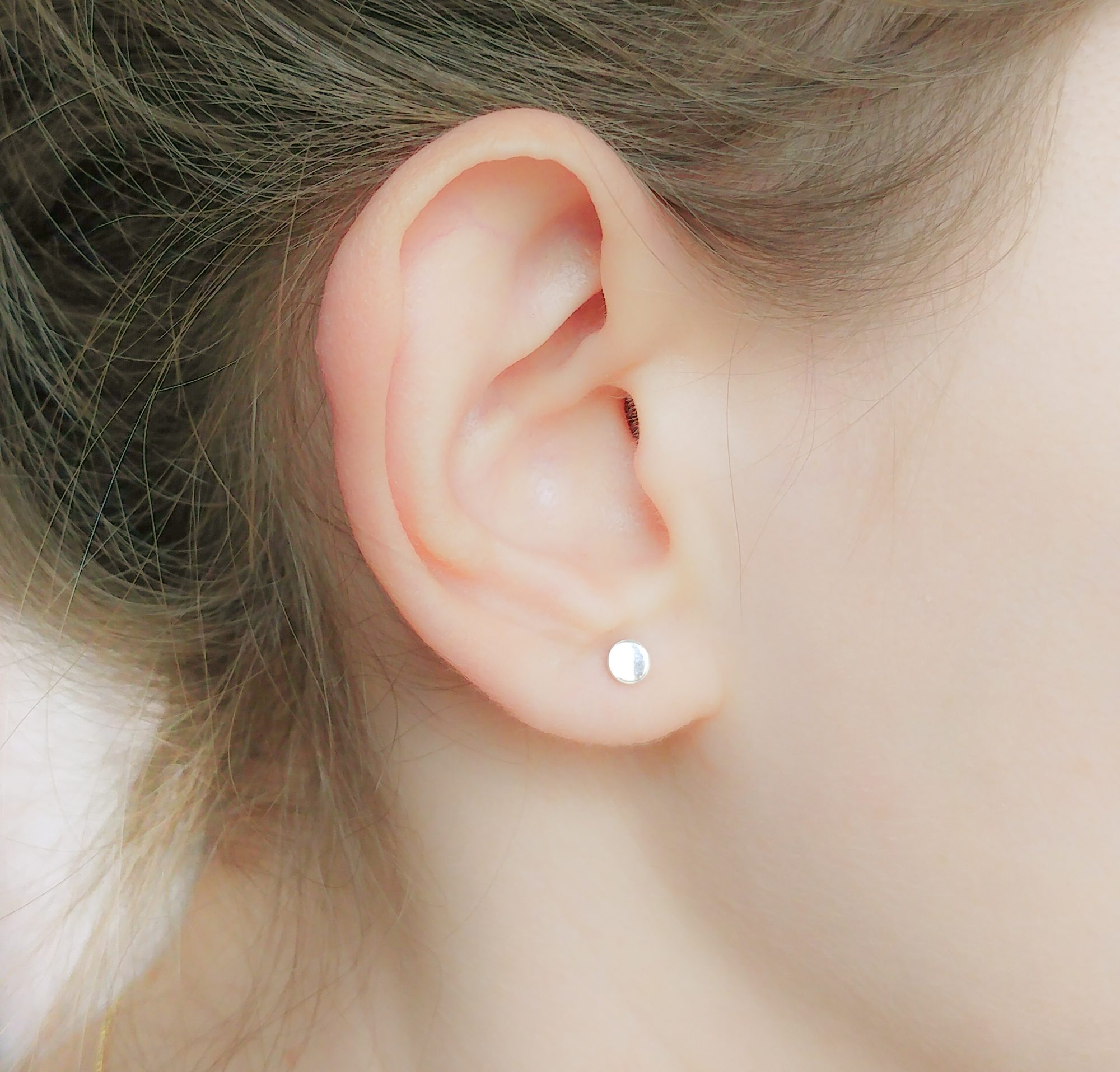 Sterling Silver Flat Circle Studs