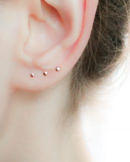 Tiny Rose Gold Stud Earrings