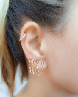 Four piercing chain earring