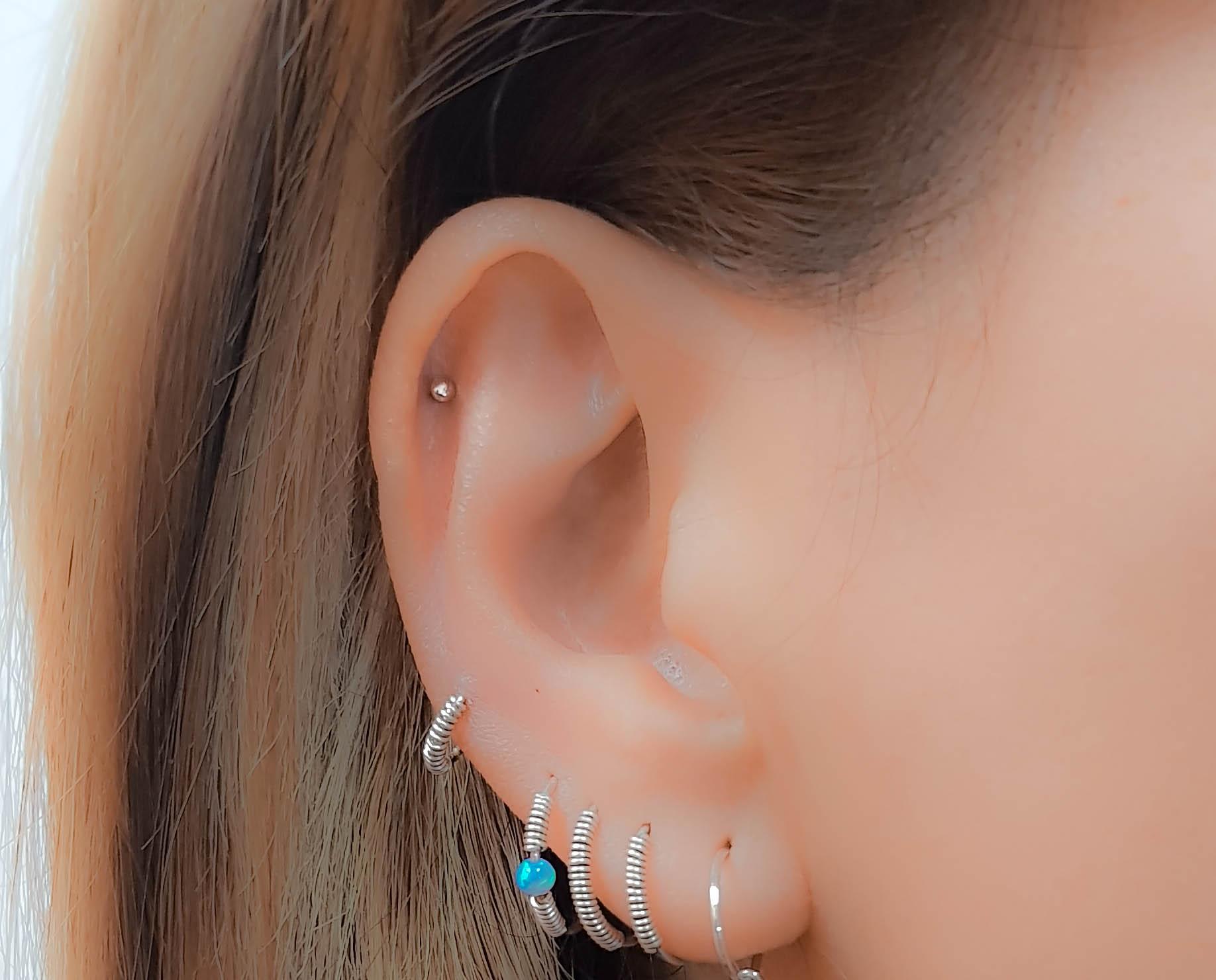 Helix earring, Cartilage earring, Helix piercing, Tiny dot helix earring,  Helix stud earring