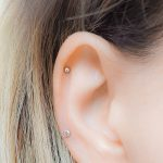 tiny stud earring