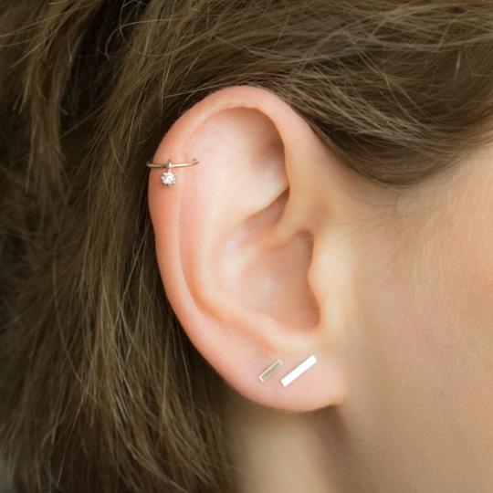 Dangle Diamond Cartilage Earring Moonli Designs