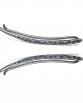 silver oxidized earring