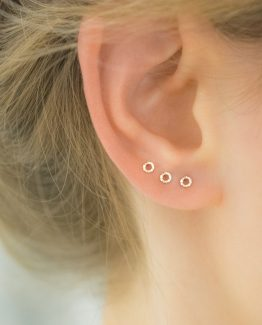 diamond wire earring minimalist