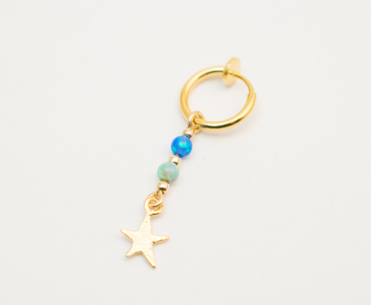 Fake Belly Ring With A Starfish Charm Moonli Designs
