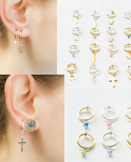 clip on earring all options